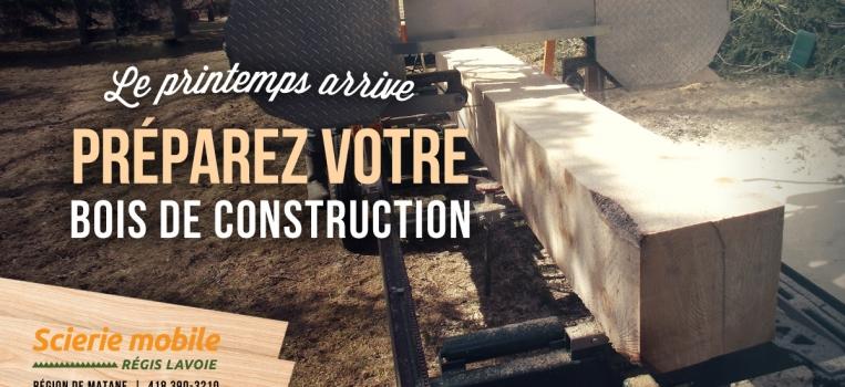 Préparez votre bois de construction
